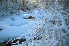 Fluss in der Winteransicht Lizenzfreie Stockbilder