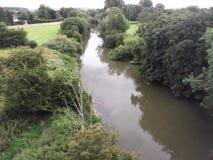 Fluss Derwent, das Stamford-Brücke durchfließt lizenzfreie stockbilder
