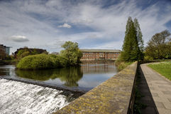 Fluss Derwent Derby Stockfoto