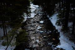 Fluss des Schnees stockbilder