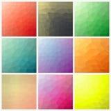 Fluss des Spektrumeffektes Polygonaler Hintergrund Stockbilder