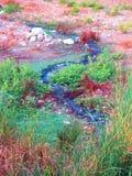 Fluss des unbehandelten Abwassers Lizenzfreies Stockbild