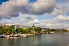 Fluss die Seine in Paris Frankreich Stockfotografie