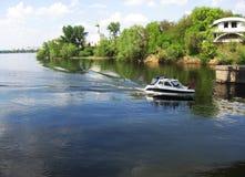 Fluss Dniepr Stockbild