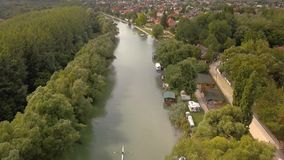 Fluss-Donau-Ansicht stock video
