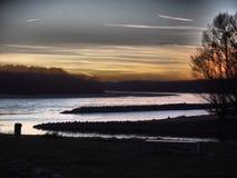 Fluss Donau und Morava, Bratislava Devin- Slowakei lizenzfreies stockfoto
