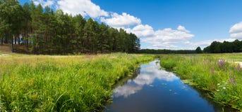 Fluss in Fojutowo, Polen stockfotos