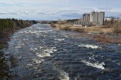 Fluss Frühling Niva Lizenzfreie Stockfotografie