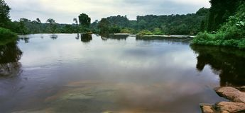 Fluss in Gabun Lizenzfreie Stockfotos