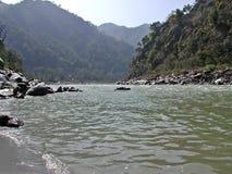 Fluss Ganges in Indien lizenzfreies stockbild