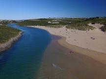 Fluss Gannel und Newquay lizenzfreie stockfotos