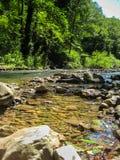 Fluss Gradac in Serbien Stockfotografie