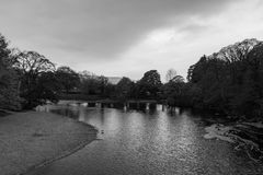 Fluss in Ilkley Stockfoto
