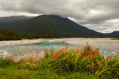 Fluss im Gletscher-Land Stockfoto