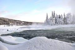 Fluss im Winter stockbilder