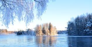 Fluss im Winter Stockfoto
