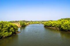 Fluss-Indien-Maharashtra lizenzfreies stockbild