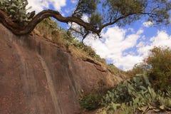 Fluss Jordan-Bett, Lalibela, Äthiopien, UNESCO-Welterbestätte Stockfotos