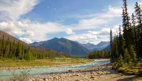 Fluss in Kootenay Lizenzfreies Stockbild