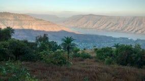 Fluss krishna früher Morgen stockfotografie