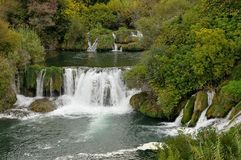 Fluss Krka Stockfoto