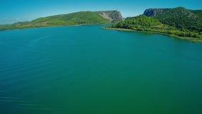 Fluss Krka, Luftschuß Lizenzfreie Stockbilder