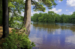 Fluss-Küstenlinie Str.-Croix Lizenzfreies Stockbild
