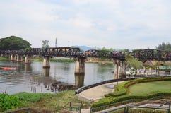 Fluss Kwai-Brücke Stockfotografie