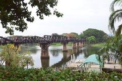 Fluss Kwai-Brücke Stockbild