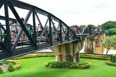 Fluss Kwai-Brücke im kanchanaburi, Thailand 6 Lizenzfreie Stockbilder