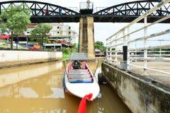 Fluss Kwai-Brücke im kanchanaburi, Thailand 1 Lizenzfreies Stockfoto