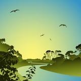 Fluss-Landschaft