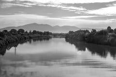 Fluss-Landschaft stockfoto