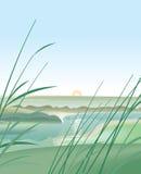 Fluss-Landschaft Lizenzfreie Abbildung