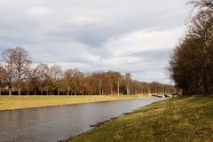 Fluss in Leipzig, Deutschland stockbild