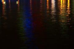 Fluss-Leuchten Stockbild