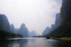 Fluss Li-Jiang Stockfoto