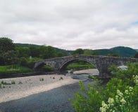Fluss in Llranrwst Stockbild