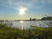 Fluss in Lutsk Stockfotografie