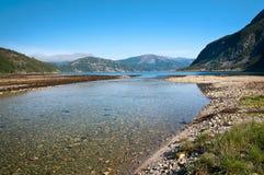 Fluss-Mündung Lizenzfreie Stockfotografie