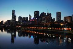 Fluss Melbourne-Yarra Stockfotos