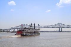 Fluss Mississipi-Boot Natchez lizenzfreies stockbild