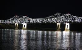 Fluss Mississipi-Brücke Lizenzfreies Stockbild