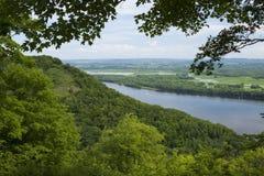 Fluss Mississipi Vista Lizenzfreie Stockfotografie