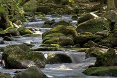 Fluss mit Steinen Lizenzfreie Stockfotos