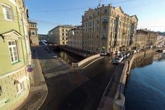 Fluss Moika. St. Petersburg. Russland Lizenzfreies Stockbild