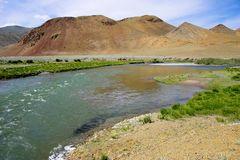 Fluss in Mongolei Stockfotografie