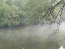 Fluss morgens Stockbild