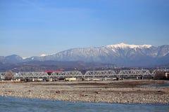 Fluss Mzymta in Adler, der southest Bezirk von Lizenzfreies Stockfoto