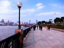 Fluss am Nachmittag in Shanghai Lizenzfreie Stockfotos